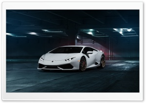White Lamborghini 4K HD Wide Wallpaper for Widescreen