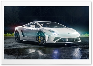 White Lamborghini Gallardo HD Wide Wallpaper for Widescreen