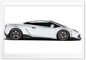 White Lamborghini Gallardo LP560 2009 HD Wide Wallpaper for Widescreen