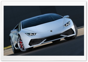 White Lamborghini Huracan HD Wide Wallpaper for 4K UHD Widescreen desktop & smartphone