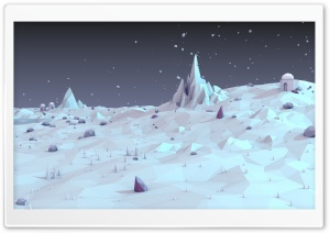 White Landscape Low Poly HD Wide Wallpaper for 4K UHD Widescreen desktop & smartphone