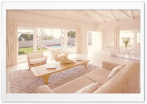 White Living Room HD Wide Wallpaper for Widescreen