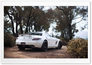 White Mercedes Benz AMG SLS HD Wide Wallpaper for Widescreen