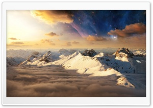 White Mountain Range HD Wide Wallpaper for Widescreen