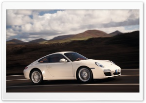 White Porsche HD Wide Wallpaper for Widescreen