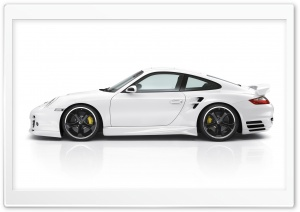 White Porsche Car HD Wide Wallpaper for Widescreen