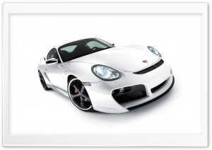 White Porsche Car 1 HD Wide Wallpaper for Widescreen