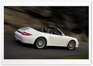 White Porsche Carrera 4S HD Wide Wallpaper for Widescreen
