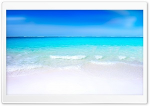 White Sand Beach HD Wide Wallpaper for Widescreen