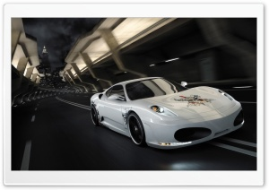 White Supercar HD Wide Wallpaper for Widescreen