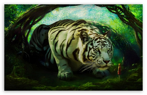 Download White Tiger The Guardian HD Wallpaper