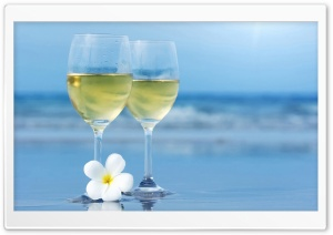 White Wine Glasses HD Wide Wallpaper for Widescreen