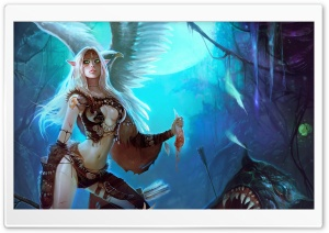 Wild Elf Girl HD Wide Wallpaper for Widescreen