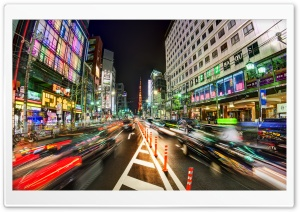 Wild Tokyo Streets HD Wide Wallpaper for Widescreen