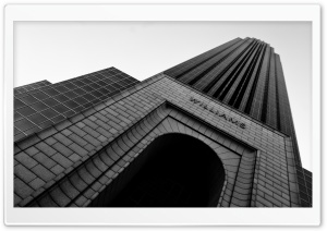 Williams Tower Black And White HD Wide Wallpaper for Widescreen
