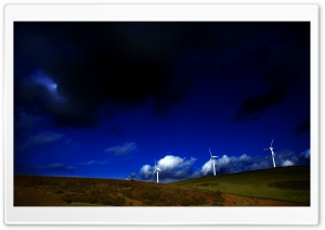 Wind Turbine Dark HD Wide Wallpaper for Widescreen