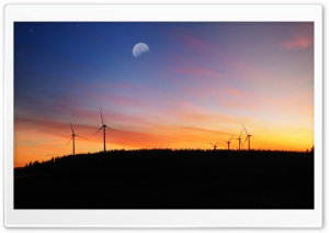 Wind Turbine Farm Ultra HD Wallpaper for 4K UHD Widescreen desktop, tablet & smartphone