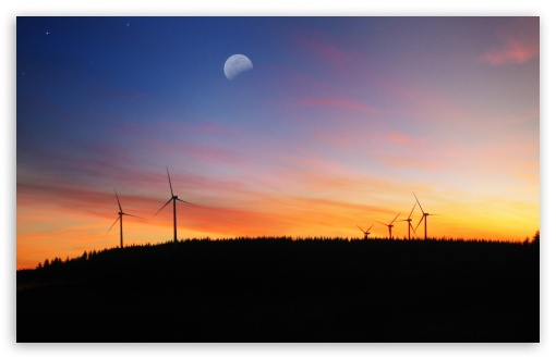 Download Wind Turbine Farm UltraHD Wallpaper