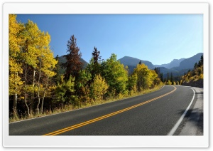 Winding Road Autumn HD Wide Wallpaper for Widescreen