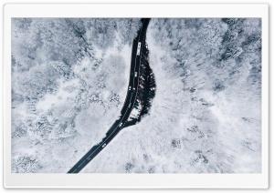 Winding Road, Winter, Snowy...