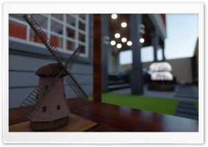 Windmill 3D Ultra HD Wallpaper for 4K UHD Widescreen desktop, tablet & smartphone