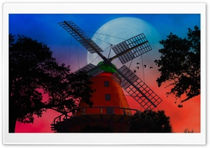 Windmill HD Wide Wallpaper for 4K UHD Widescreen desktop & smartphone