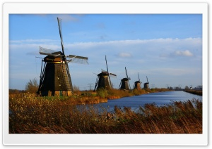 Windmill Farm HD Wide Wallpaper for 4K UHD Widescreen desktop & smartphone