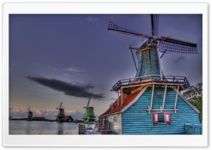 Windmills HDR HD Wide Wallpaper for Widescreen