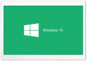 Windows 10 2015 Green Background HD Wide Wallpaper for 4K UHD Widescreen desktop & smartphone