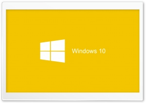 Windows 10 2015 Yellow Background HD Wide Wallpaper for 4K UHD Widescreen desktop & smartphone