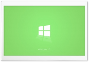 Windows 10 Green HD Wide Wallpaper for 4K UHD Widescreen desktop & smartphone