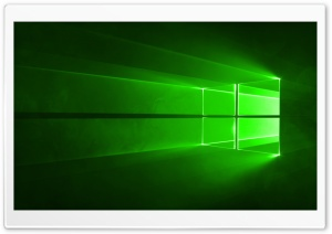 Windows 10 Green HD Wide Wallpaper for Widescreen