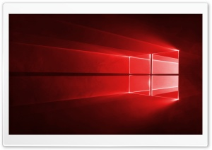 Windows 10 Red in 4K HD Wide Wallpaper for Widescreen