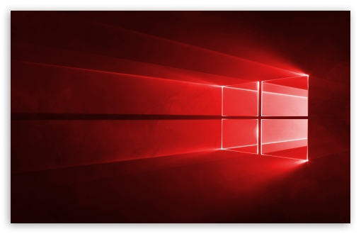 Windows 10 Red in 4K ❤ 4K HD Desktop Wallpaper for • Wide