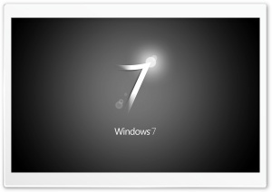 Windows 7 Black HD Wide Wallpaper for Widescreen