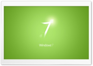 Windows 7 Green HD Wide Wallpaper for Widescreen