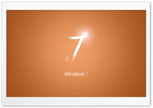 Windows 7 Orange HD Wide Wallpaper for Widescreen