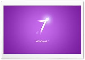 Windows 7 Purple HD Wide Wallpaper for Widescreen