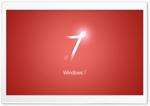 Windows 7 Red HD Wide Wallpaper for Widescreen