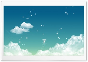 Windows 7 Style Clouds HD Wide Wallpaper for Widescreen