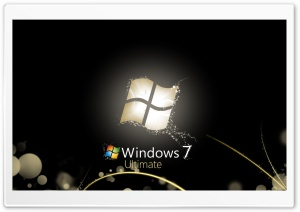 Windows 7 Ultimate Bright Black HD Wide Wallpaper for Widescreen