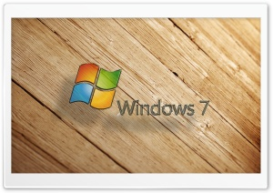 Windows 7 Wood HD Wide Wallpaper for Widescreen