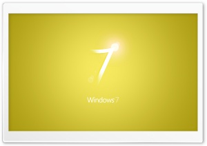 Windows 7 Yellow HD Wide Wallpaper for 4K UHD Widescreen desktop & smartphone