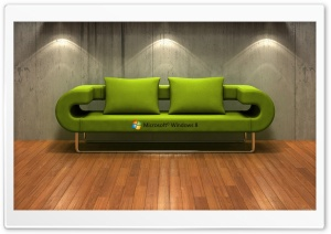 Windows 8   3D Couch HD Wide Wallpaper for Widescreen