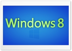 Windows 8 - Green and Blue HD Wide Wallpaper for Widescreen