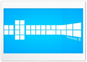 Windows 8 Blue Tiles HD Wide Wallpaper for Widescreen