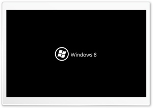 Windows 8 On Black HD Wide Wallpaper for Widescreen