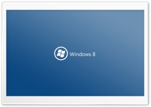 Windows 8 On Blue Background HD Wide Wallpaper for Widescreen
