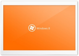 Windows 8 On Orange Background HD Wide Wallpaper for Widescreen