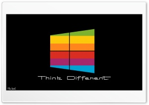 Windows 8 Think Different BG HD Wide Wallpaper for Widescreen